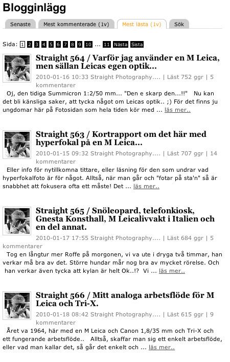 Straight Photography Sveriges Mest Lasta Fotoblogg