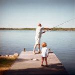 Farfar med barnbarnet