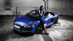 Diana Karlsson och Audi R8