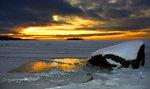 reflektion i isen