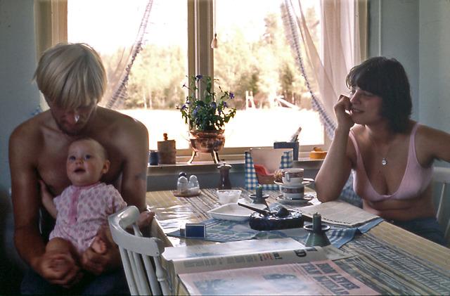 018b Helène, Lasse och Gunilla på Drabo 1971