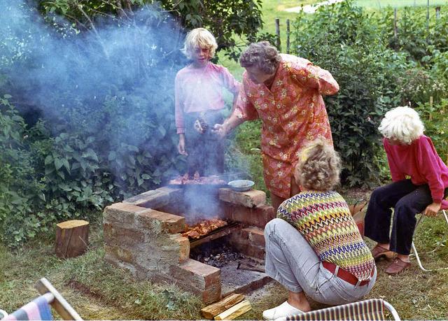 Grillning på Drabo sommaren 1970 015