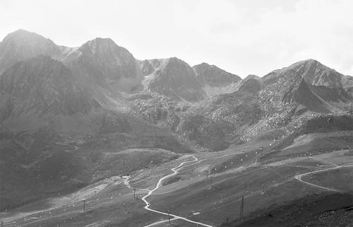Andorra svartvit