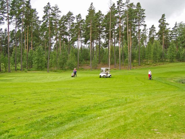Lena på Karlstads golfbana 2003