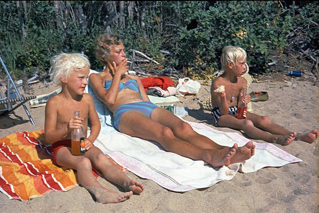 055  Lunch vid Sånghussjön 1969