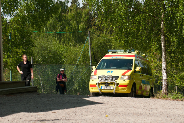 Ambulansen kommer
