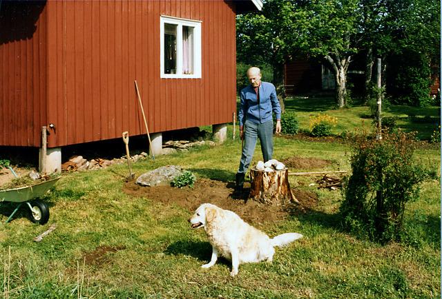 Lotta och Pappa på Drabo 1983