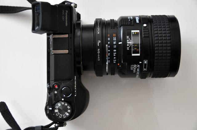 Adapter Pixco med Micro Nikkor f2,8 60 mm DSC_0767