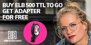 Elinchrom ELB 500 TTL To Go - Free Elinchrom Adapter