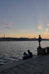 Blå timmen i stadshusparken, Stockholm