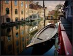Canalen i Gents gamla stadsdel.