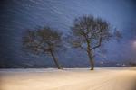 Snöoväder vid Vättern