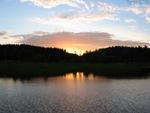 Solnedgång över Voxfjärn i Nordingrå.