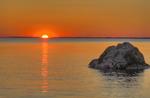 Solnedgång över Fiskeboda