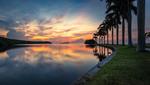 Soluppgång med action - Deering Estate - Miami Florida