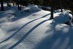 Mer lek med skuggor i snö