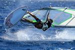 Vågrätt vindsurfare