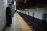 Man Waiting in Subway, New York