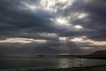 Solstrålar ever Döda havet