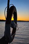 Solnedgång på piren