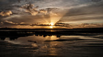 Solnedgång i yttre Åsunden