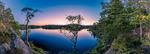 Augusti månen över sjön [Tyresta nationalpark]