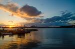 Båt i solnedgång