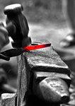 Smedens arbete med kniven