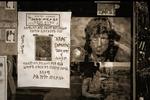 Anslagstavla i Addis Ababa med bilder av Rambo