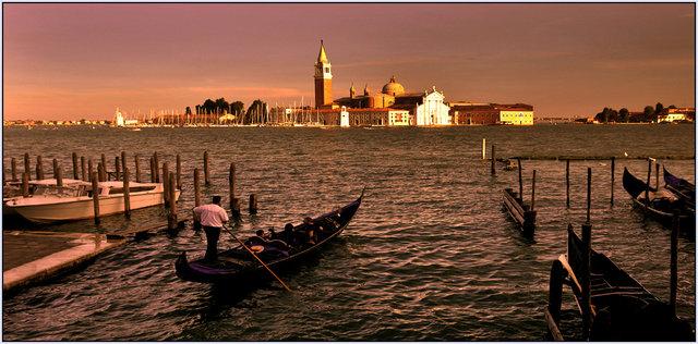 Kvällsljus i Venedig