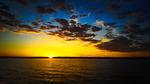 Solnedgång på Vänern