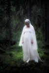 Kvinna i vitt...