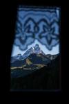 Matterhorn sedd från sängen