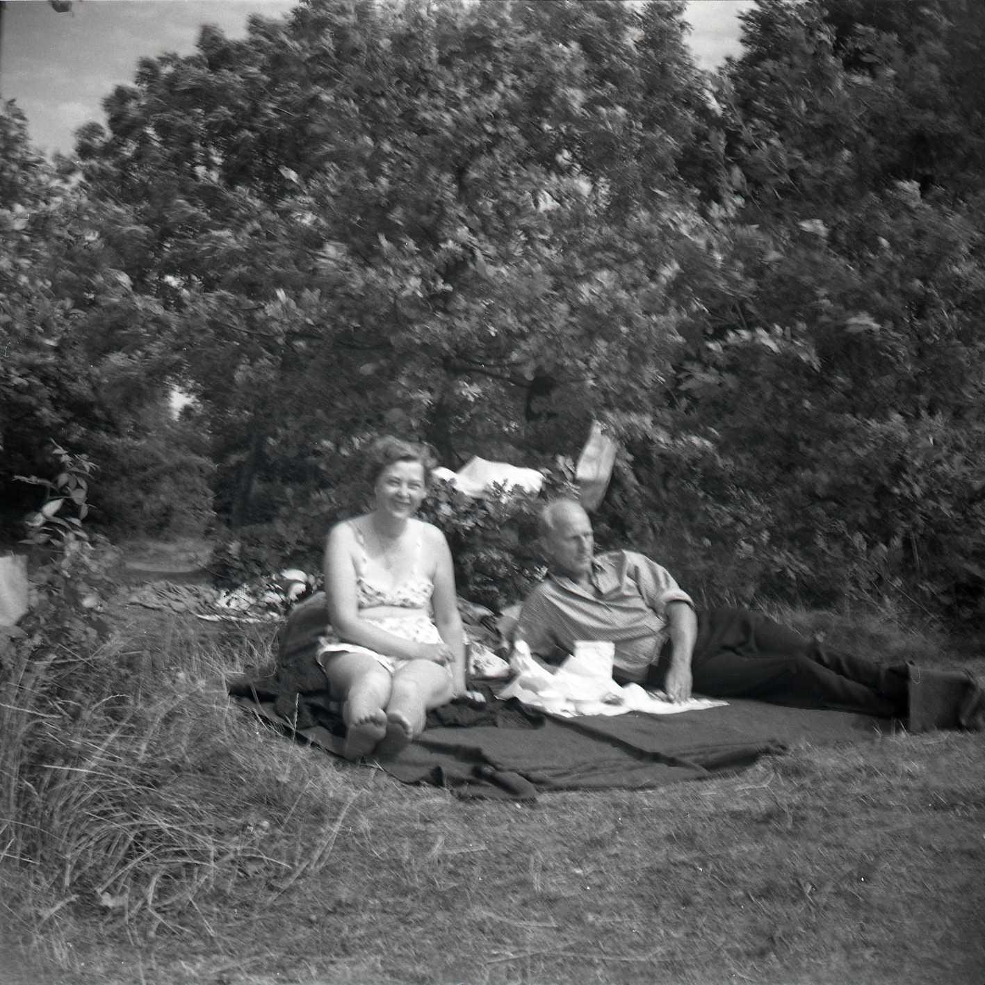 Mamma och Pappa i Karskrona 1953