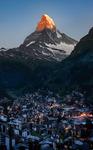 Soluppgång över Matterhorn