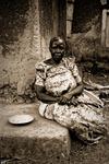Nakaseke - en av de få äldre kvinnor som fortfarande var kvar i byn