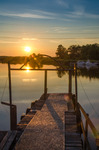 Munkahus solnedgång