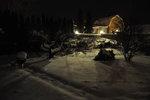 Nattbild i trädgård