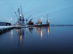 Kall morgon i hamnen