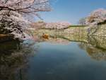 Båttur i Himeji slottsvallgrav.