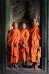 Studenter som besöker Angkor Wat, Kambodja