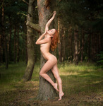 Katherin S in the woods