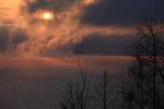 Kall soluppgång över vättern