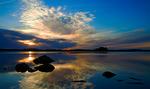 Solnedgången vid Skagern
