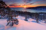 Solnedgång i Höga Kusten