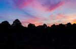 Himmel över kyrkogård