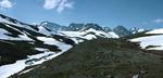 Panorama av Kebnekaisemassivet från Tarfalladalen 1997