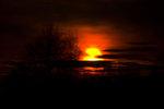 Vårens solnedgång