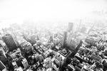 Fog over New York City