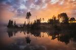 Magisk färgprakt vid soluppgången